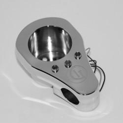 Supporto contachilometri cromato con spie led integrate
