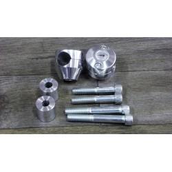 Coppia riser 2 altezze in alluminio lucidato