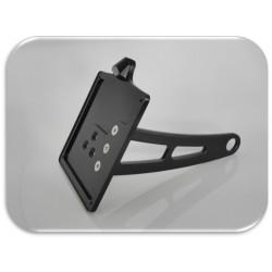 Supporto taga laterale di colore nero con sola luce targa