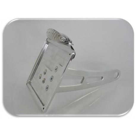Supporto taga laterale lucida con doppia luce a led omologata