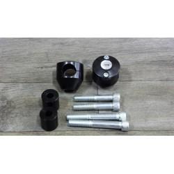 Coppia riser 2 altezze in alluminio anodizzato nero