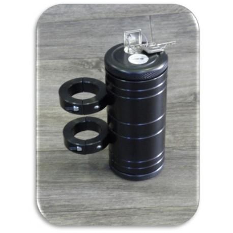 Portadocumenti universale in alluminio anodizzato nero