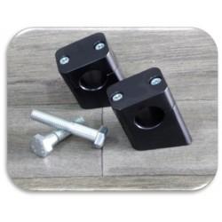 Coppia Riser in alluminio neri