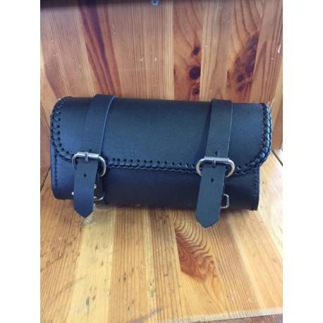 borsa porta oggetti in cuoio nero